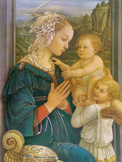 Virgin in Adoration-Filippino Lippi-Art Print