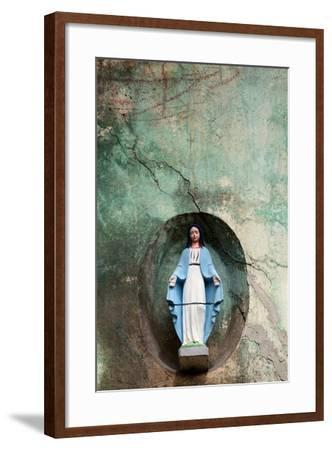 Virgin Maria Statue Votive Aedicula- Vincentdrago-Framed Photographic Print