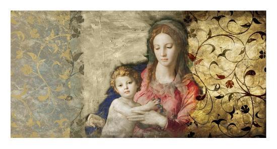 Virgin Mary (After Bronzino)-Simon Roux-Art Print