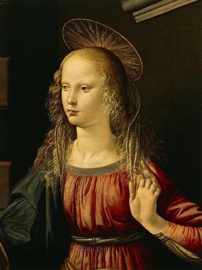 Virgin Mary, Detail from Annunciation, 1472-1475-Leonardo da Vinci-Giclee Print