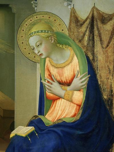 Virgin Mary, from Annunciation Altarpiece, 1430-35 (Detail)-Fra Angelico-Giclee Print