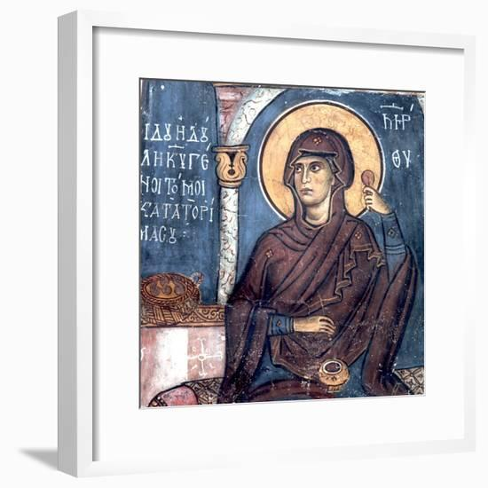 Virgin Mary with a Spindle--Framed Giclee Print