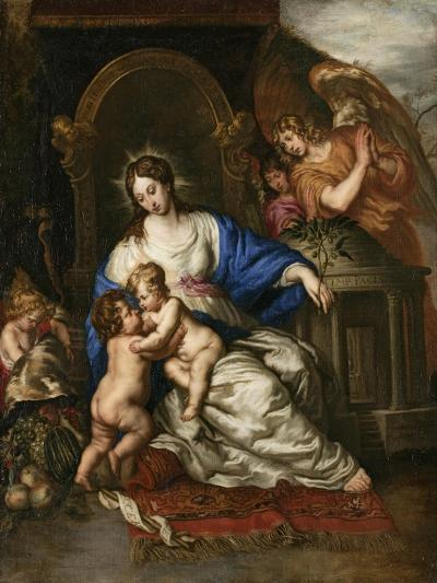 Virgin Mary with Child and John the Baptist as a Little Boy-Joachim Von Sandrart-Giclee Print