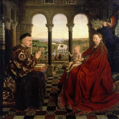 Virgin of Autun (Madonna of Chancellor Rolin)-Jan van Eyck-Giclee Print