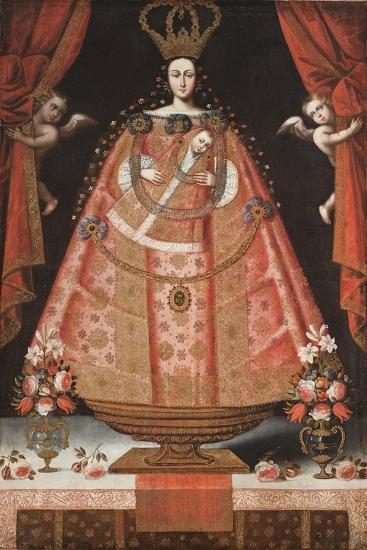 Virgin of Belén (Virgen de Belén), c.1700-1720-Cuzco School-Giclee Print