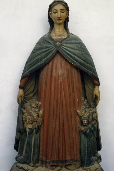 Virgin of Mercy, Polychrome Wood Statue, Italy, 15th Century--Giclee Print