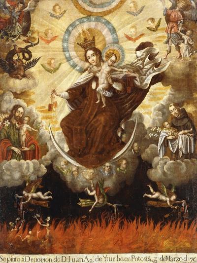 Virgin of the Carmelites, 1761-Gaspar Miguel de Berrio-Giclee Print