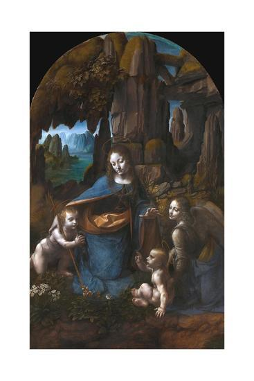 Virgin of the Rocks-Leonardo da Vinci-Giclee Print