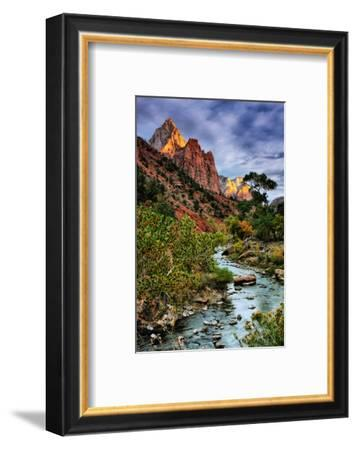 Virgin River Morning View, Zion National Park, Utah-Vincent James-Framed Photographic Print