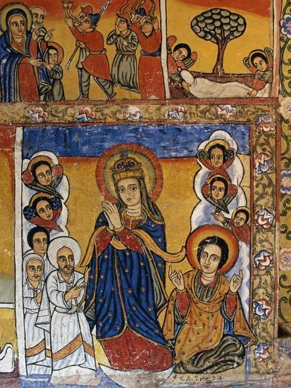 Virgin, Scenes from Sacred Books, Paintings in Ura Kidane Meret Monastery--Giclee Print