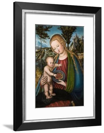 Virgin with Cherries, Ca 1506-Lucas Cranach the Elder-Framed Giclee Print