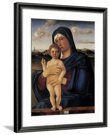 Virgin with Child (Contarini Madonna)-Giovanni Bellini-Framed Art Print