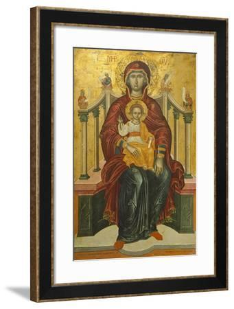 Virgin with Child on the Throne, Icon--Framed Giclee Print