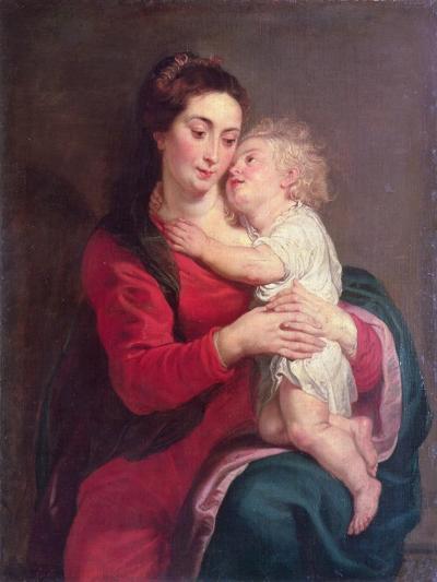 Virgin with Child-Peter Paul Rubens-Giclee Print