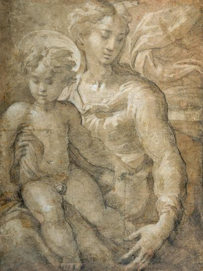 Virgin with the Child on Her Lap-Parmigianino-Giclee Print
