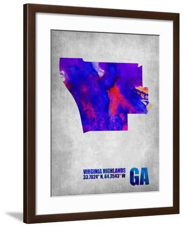 Virginia Highlands Georgia-NaxArt-Framed Art Print