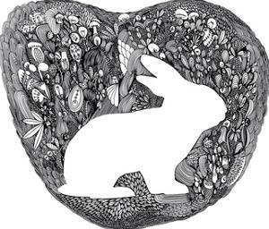 Wandering Bunny by Virginia Kraljevic