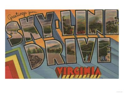 Virginia - Sky-Line Drive-Lantern Press-Art Print