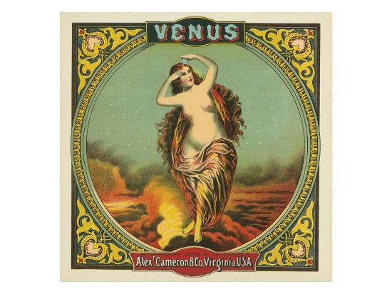 Virginia, Venus Brand Tobacco Label-Lantern Press-Art Print