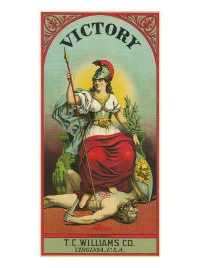 Virginia, Victory Brand Tobacco Label-Lantern Press-Art Print