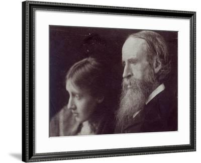 Virginia Woolf and Her Father Sir Leslie Stephen, C.1903--Framed Giclee Print