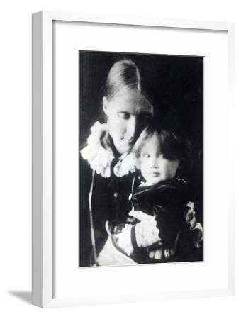 Virginia Woolf, with Her Mother Julia, 1884--Framed Giclee Print