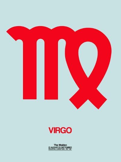 Virgo Zodiac Sign Red-NaxArt-Art Print