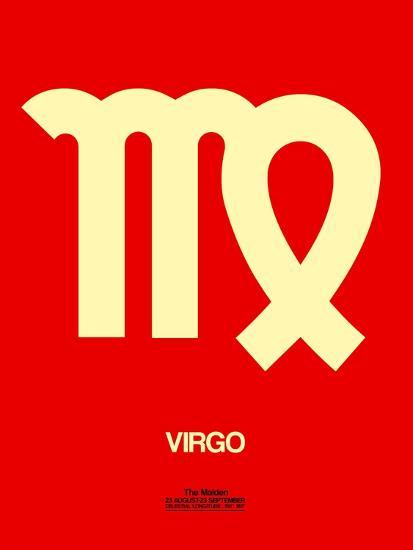 Virgo Zodiac Sign Yellow-NaxArt-Art Print