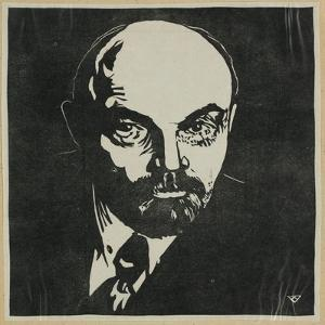 Block Print of Vladimir Lenin by Virna Haffer