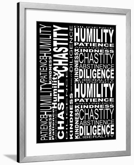 Virtues-Roseanne Jones-Framed Giclee Print