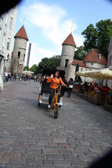 Viru Gate, Entrance to the Old Town, Tallin, Estonia, 2011-Sheldon Marshall-Photographic Print