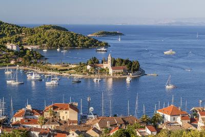 Vis Town, Franciscan Monastery and Harbor, Vis Island, Croatia-Peter Adams-Photographic Print