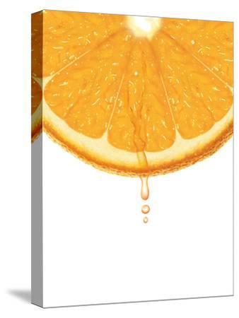 Partial View of Sliced Orange