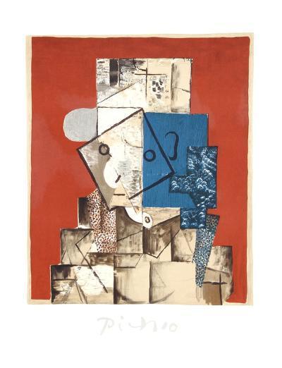 Visage sur Fond Rouge-Pablo Picasso-Collectable Print