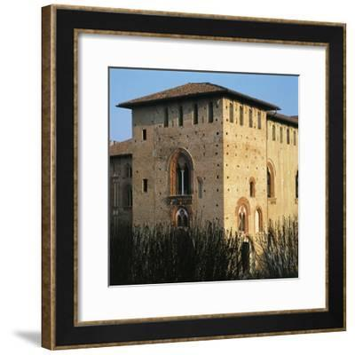 Visconti's Keep, Right Wing, of Sforzesco Castle of Vigevano, Pavia, Lombardy, Italy--Framed Giclee Print