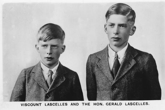 'Viscount Lascelles and Hon Gerald Lascelles', 1937-Unknown-Photographic Print