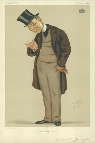 Viscount Torrington, a Man of the World, 15 April 1876, Vanity Fair Cartoon-Sir Leslie Ward-Giclee Print