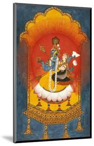 Vishnu and Lakshmi Enthroned, Basohli School circa 1690