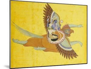 Vishnu and Lakshmi on Garuda Bundi, circa 1700