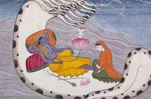 Vishnu and Lakshmi on the Serpent of Eternity
