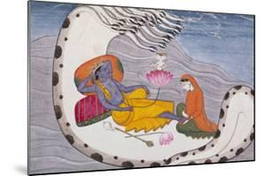 Vishnu and Lakshmi on the Serpent of Eternity