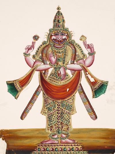 Vishnu as the Man-Lion Lord Narasimha, from Thanjavur, India--Giclee Print