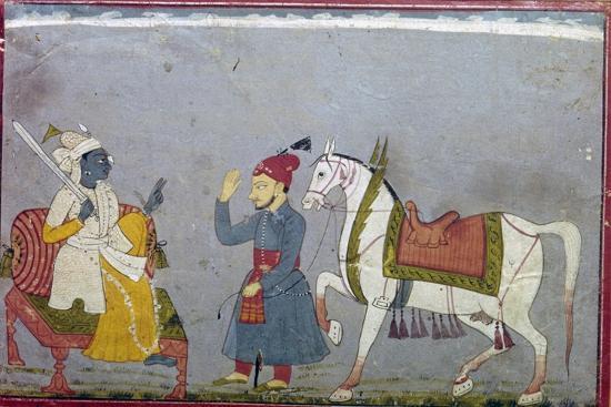Vishnu in his 10th Incarnation as the White Houre Kalki, 1710-1720-Unknown-Giclee Print