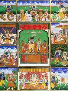 Vishnu in the Centre of His Ten Avatars, Jaipur, Rajasthan
