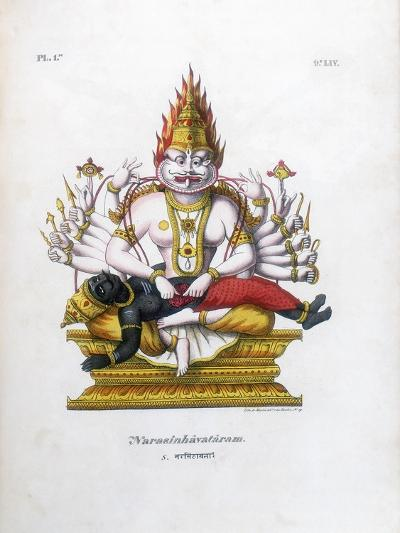 Vishnu, One of the Gods of the Hindu Trinity (Trimurt), C19th Century-A Geringer-Giclee Print