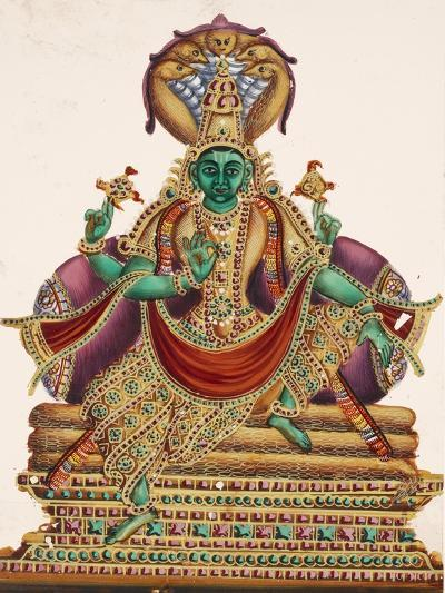 Vishnu, Sheltered by the Five-Headed Shesha, One of the Primal Beings of Creation, from…--Giclee Print