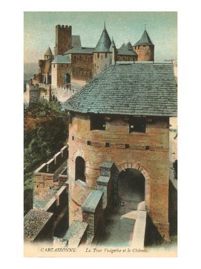 Visigoth Tower, Carcassonne, France--Art Print