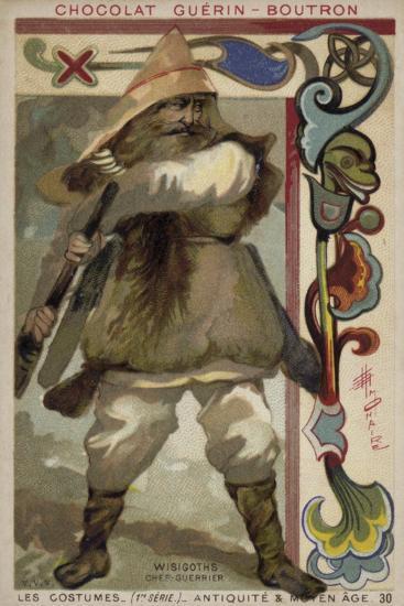 Visigoth Warrior Chieftain--Giclee Print