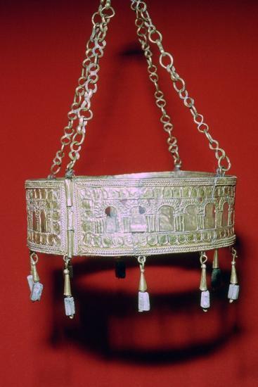 Visigothic Gold Crown, 7th century. Artist: Unknown-Unknown-Giclee Print