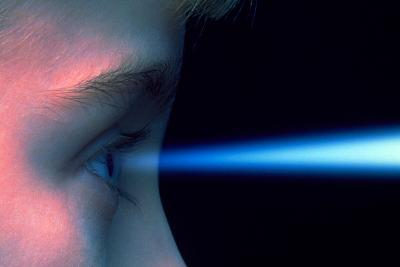 Vision: Blue Light Entering the Eye of a Child-Victor De Schwanberg-Photographic Print